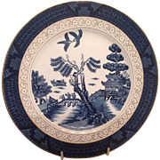 Nikko Double Phoenix Blue Willow Occupied Japan 1945-1952 Dinner Plate 10""