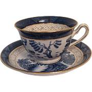 Nikko Double Phoenix Blue Willow Occupied Japan 1945-1952 Cup & Saucer