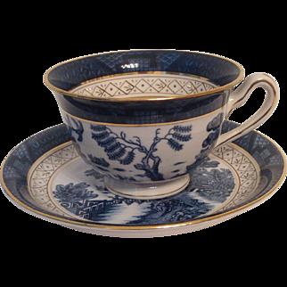 Nikko Double Phoenix Blue Willow Occupied Japan 1945-1952 Cup & Saucer