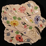 Blue Ridge Pottery Maple Leaf Dish