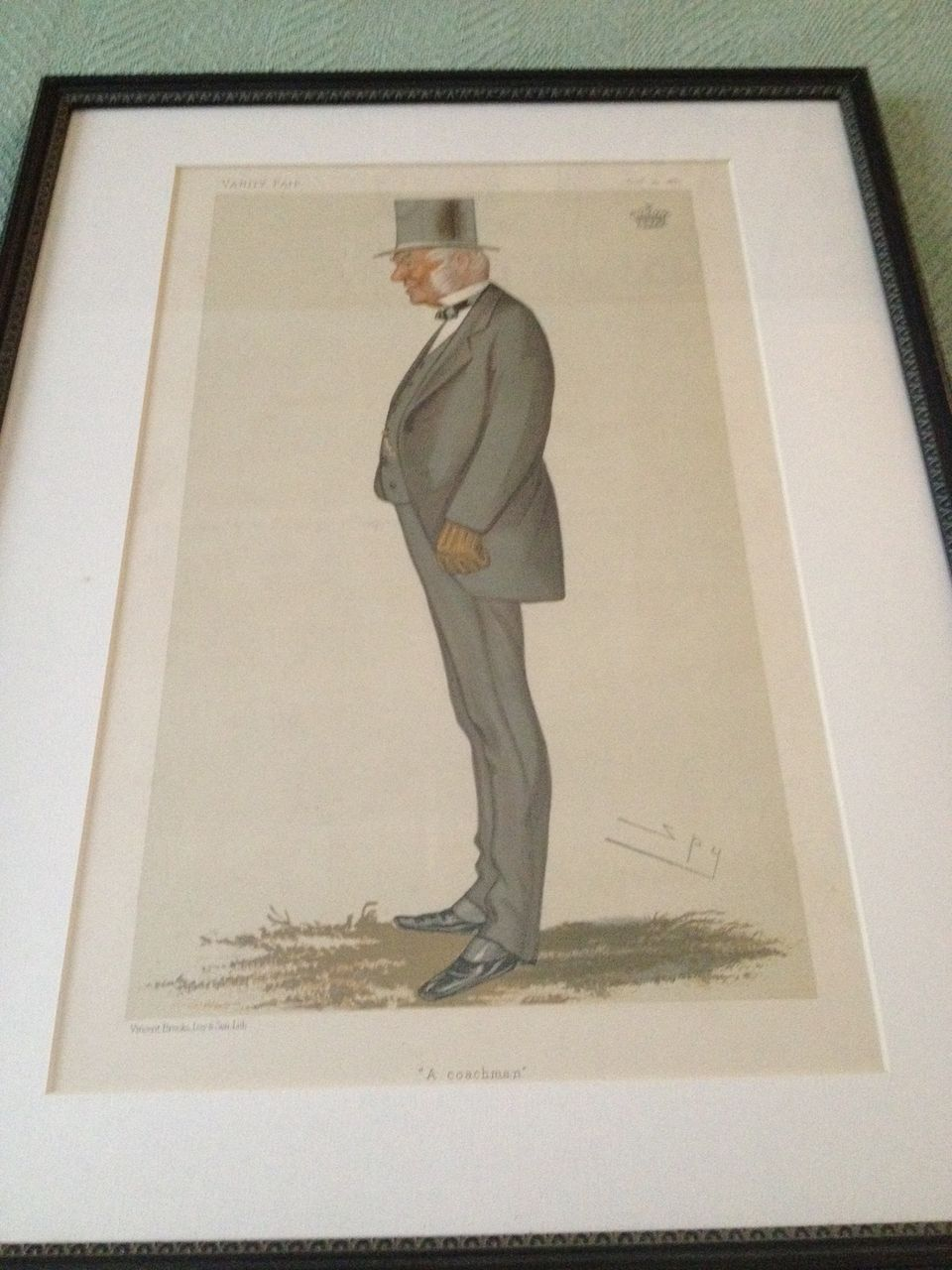 Antique Vanity Fair Print 10-22-1881 Original, Framed & Matted