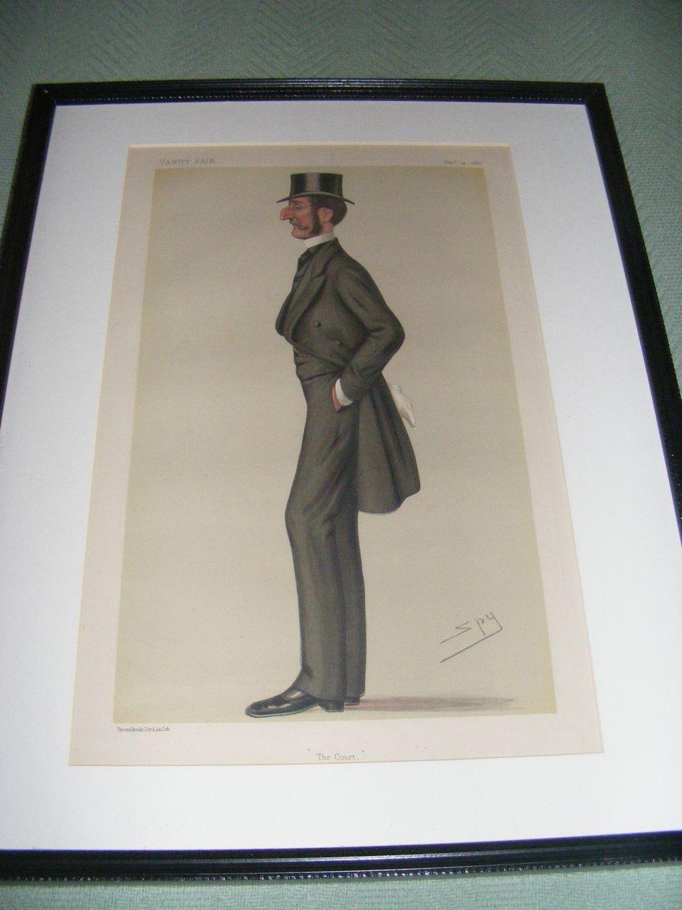Antique Vanity Fair Print 2-14-1880 Original, Framed & Matted