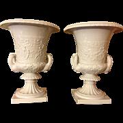 Exceptional Mid Century Pair Richard Ginori / Capodimonte Italian Urns