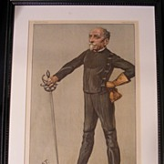 "Vanity Fair Fencing Print 8-13-1903 ""Cold Steel"" by Jest"