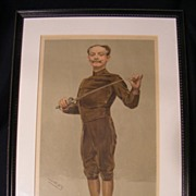 Vanity Fair Fencing Print by Spy 3-9-1905