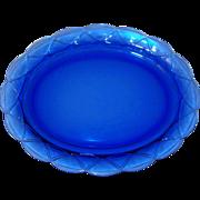 "Newport or Hairpin Platter 11 3/4"" Cobalt Blue Hazel Atlas 1936-1940 Exc. Cond."