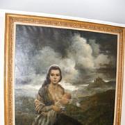 "Joe King aka ""Vinciata"" Original Oil Painting ""Young Mother"" 1957"