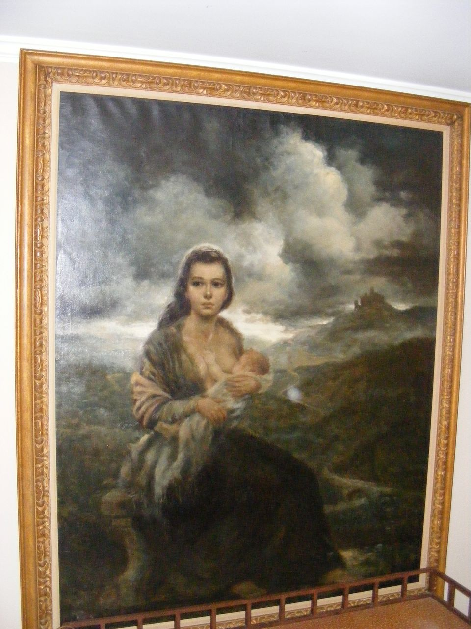 "Joe King aka ""Vinciata"" Original Oil Painting ""Young Mother"" 1957"