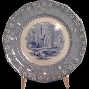"John Alcock  Staffordshire Plate 9.5"" Priory Pattern 19th Cen."