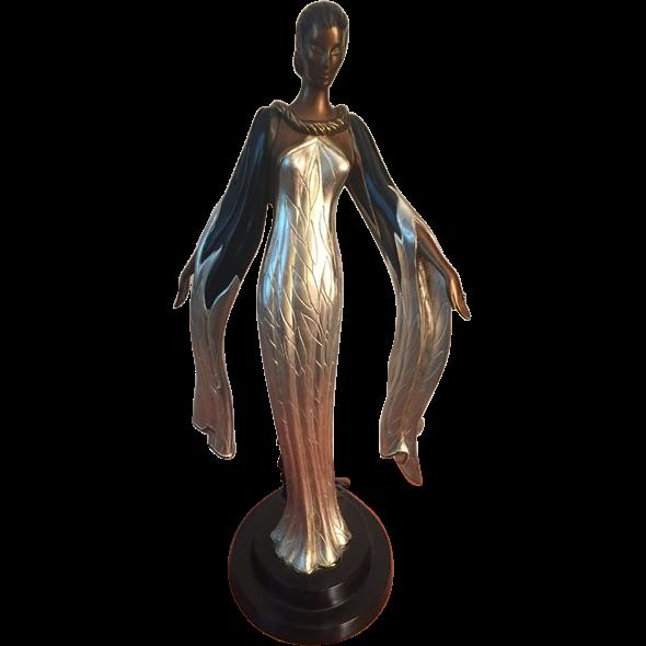 "Erte (Romain De Tirtoff) ""Fireleaves"" Bronze Sculpture 175/500 Sevenarts London"