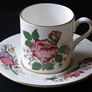 "Wedgwood ""Charnwood"" Demitasse Cup & Saucer Bone China WD3984"