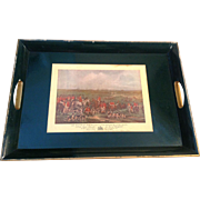 Vintage English HUnt Scene Serving Tray
