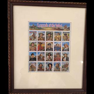 Legends Of The West Stamps, Framed & Matted