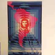 """Original OSPAAAL Cuban Political Poster CHE GUEVARA 1968 """"Day of the Heroic Guerilla"""""""