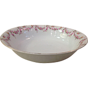 Royal Schwarzburg China RSC15 Round Veg Bowl Pink Rose Garland Design c.1915