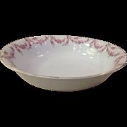 Royal Schwarzburg China RSC15 Round Veg Bowl Pink Rose Garland Design c.1915