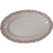 "Royal Schwarzburg China RSC15 18.25"" Platter Pink Rose Garland Design c.1915"