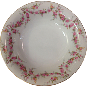 Royal Schwarzburg China RSC15 Cereal Bowl Pink Rose Garland Design c.1915