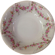 Royal Schwarzburg China RSC15 Fruit Dessert Bowl Pink Rose Garland Design c.1915