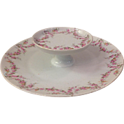 Royal Schwarzburg China RSC15 Tidbit Snack Tray Pink Rose Garland