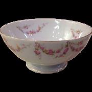 Royal Schwarzburg China RSC15 Waste Bowl Pink Rose Garland Design c.1915