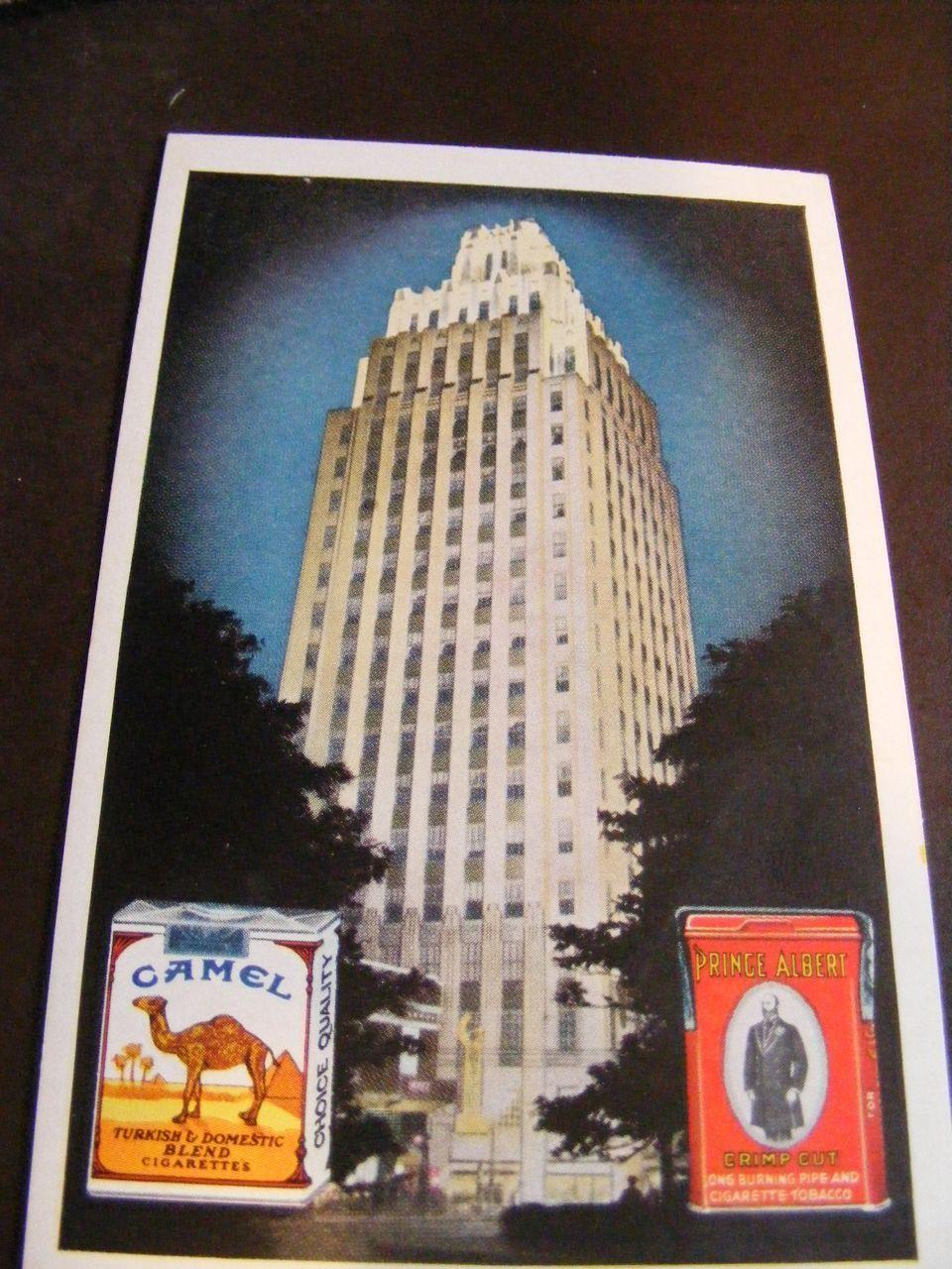 Camel & Prince Albert, Winston Salem Cigarette NC Postcard Tobacco 1950's
