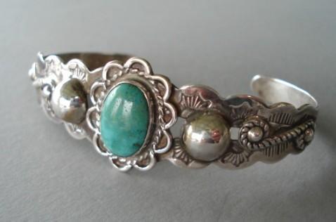 Rare Vintage 1930 S Native American Turquoise Bracelet