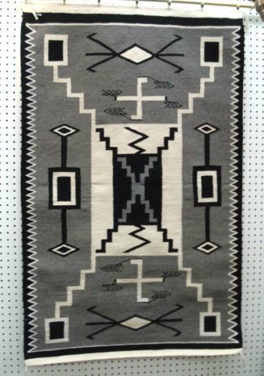 excellent native american navajo rug storm pattern fine weave 32u201d x 52u201d