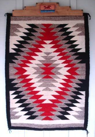 Vintage 1950 S Native American Navajo Rug Eye Dazzler Pattern 36 X51 A Le In Time Jewelry Collectibles Ruby Lane