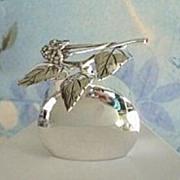 Premier Vintage Scandinavia WARG Sterling Silver Perfume Bottle Top Designed with Berries Leaves Hallmarked