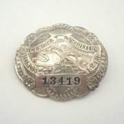 Vintage Illinois 1918 Licensed Chauffeur Badge Pin # 13419