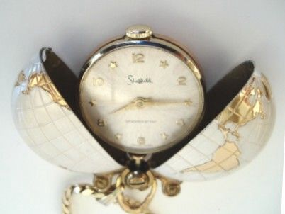 Vintage swiss sheffield world continents pendent hidden for Timetable 85 sheffield