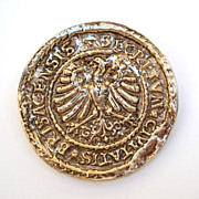 Vintage Accessocraft New York City Greek Coin Brooch Pendant