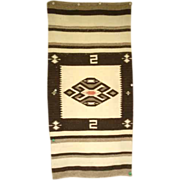 Antique 1900's Native American Navajo Rug