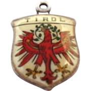 Vintage AUSTRIA Tirol Griffin on 800 Silver Shield Souvenir Charm
