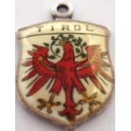 Vintage AUSTRIA Tirol Griffin on 800 Silver Shield Souvenir Charm