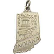 Vintage Indiana State Sterling Silver Souvenir Charm
