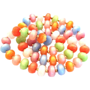 Vintage Pearlescent Pastel Lucite Candy Necklace