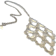 """Vintage Sarah Coventry """"Lotus Blossom"""" Necklace with 4-3/4"""" Pendant Oriental"""