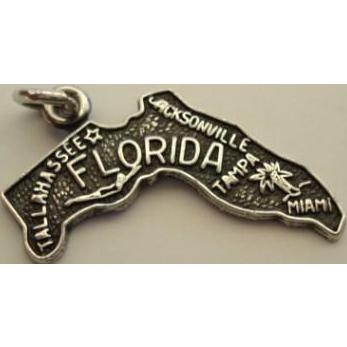 Vintage Florida State Sterling Silver Souvenir Charm