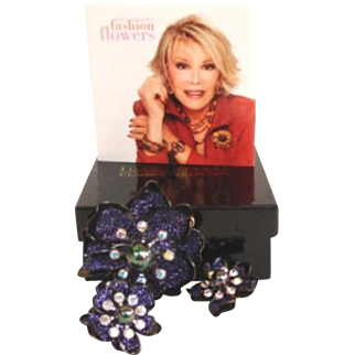 Joan Rivers Statement Fantasy Flower Set NIB with Brochure