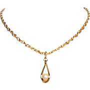 Vintage Caged Cultured Pearl Necklace