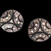 Vintage Art Deco Style Lucite Rhinestone Earrings