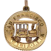 Vintage M&M San Francisco Cable Car Charm Sterling Signed