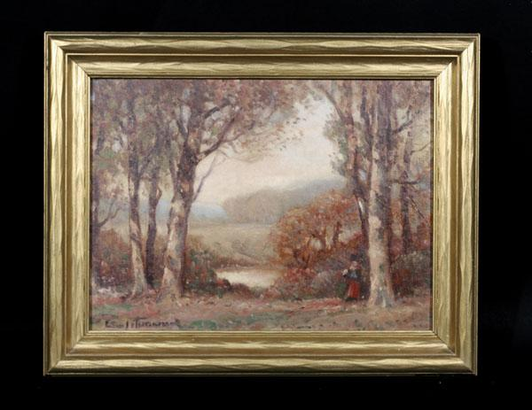 Early 20th Century American Tonal Landscape, Unreadable Signature,