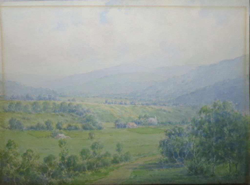 19th/20th Century American WC Landscape by  Carroll C. Child