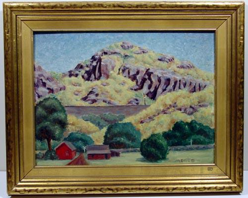 1940 Duluth, Minnesota Landscape, Regionalist Style, Signed