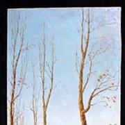 Mid 20th Century Impressionist Landscape by Listed Artist Segundo Huertas Aguiar (1923-)