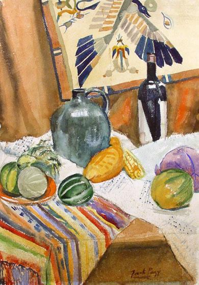 Mid 20th Century Still Life by Wisconsin Artist Frank Piazzi