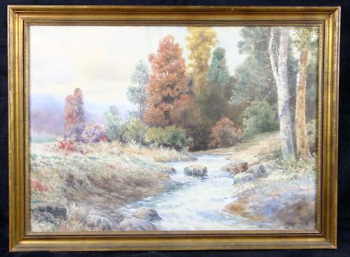 Exceptional New England Landscape, C. 1910, by Well Listed New York Artist Milton H. Lowell